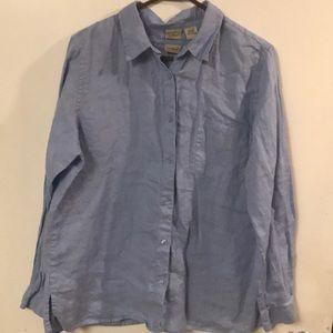 L.L. Bean long sleeve button up shirt